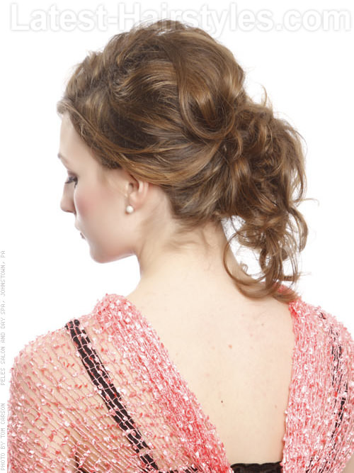 Contemporary Cutie Wavy Loose Curly Prom Hairstyle