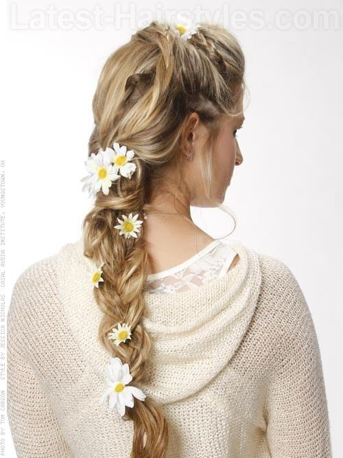 Blonde Hair From the Back Braids Hairstyles