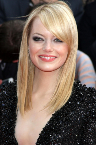 Emma Stone straight hair