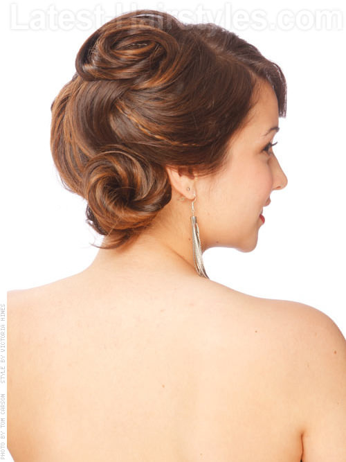 Focal Point Updo for Prom with Swirls