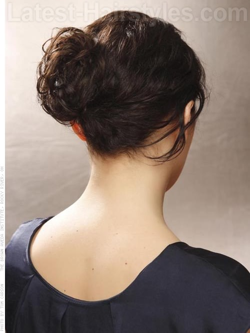 Goddess Bun Grecian Style Braided Updo for Prom - Back View