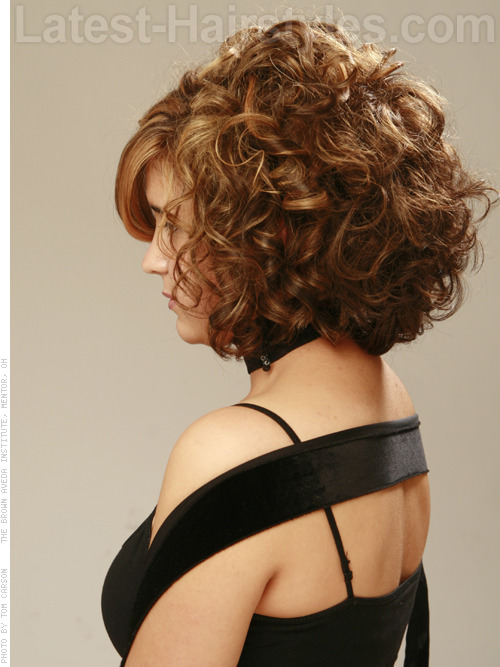 Messy Curl Maven Sweet Full Style with Curls and Long Bangs Side View