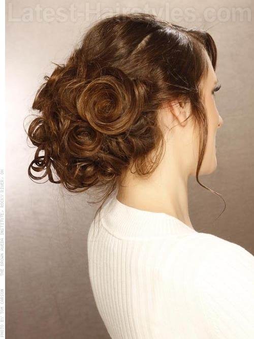 Messy Tousled Prom Updos For Long Hair