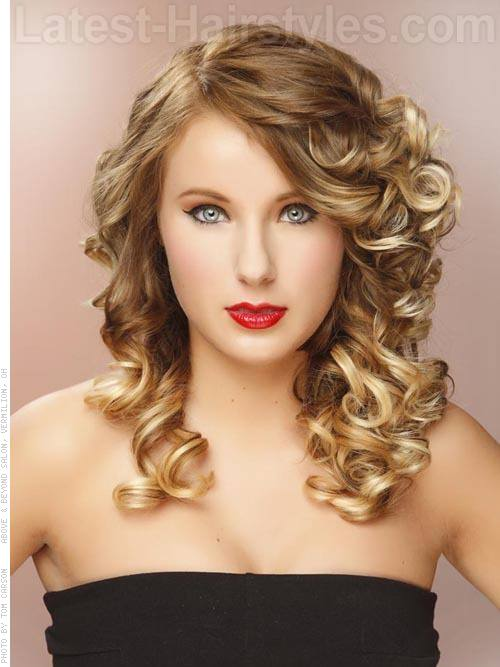 Pleasant Curly Hairstyles For Prom Hairstyles For Women Draintrainus