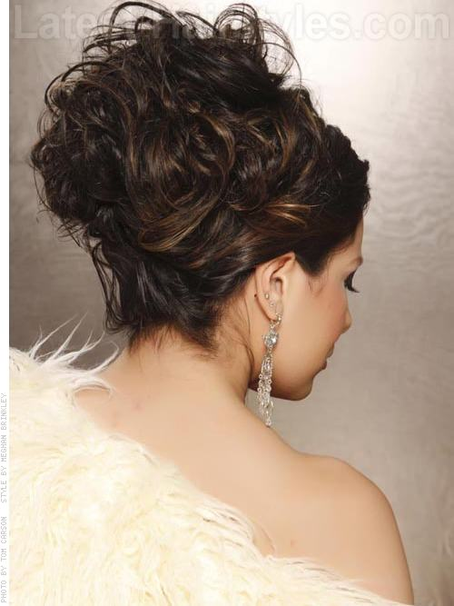 Queen of the Night Glamorous Piled Curls for Prom - Back View