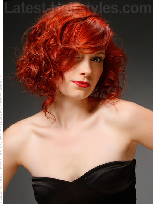 curly bob rebel red 2