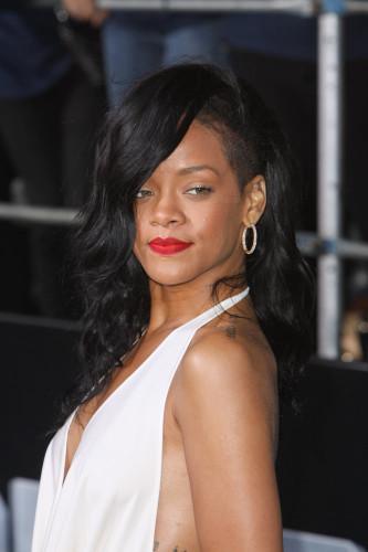 Rihanna Shaved Side Long Hair
