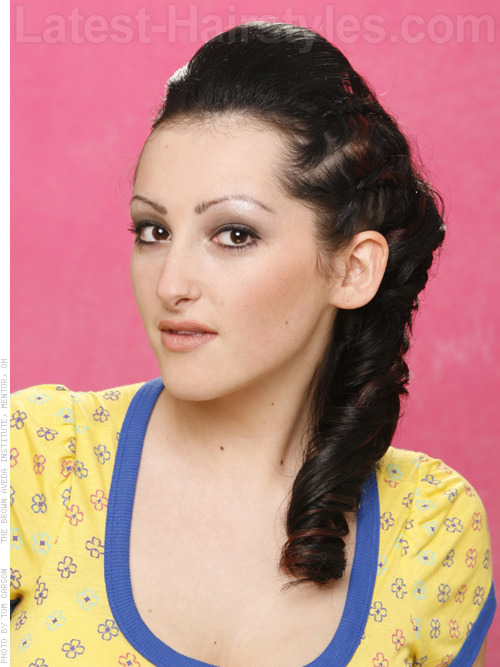 Rockabilly Fun Style with Lots of Braids Pulled Away from the Face
