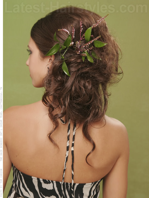 Sweet Side Hairstyles for Prom Back View