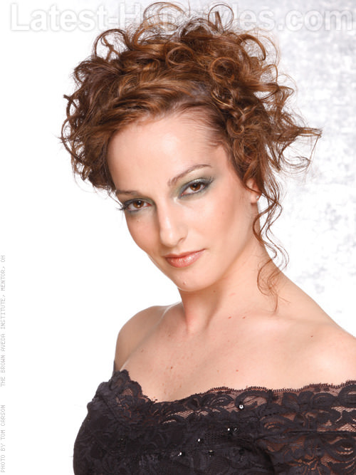 Pleasant Curly Hairstyles For Prom Short Hairstyles Gunalazisus