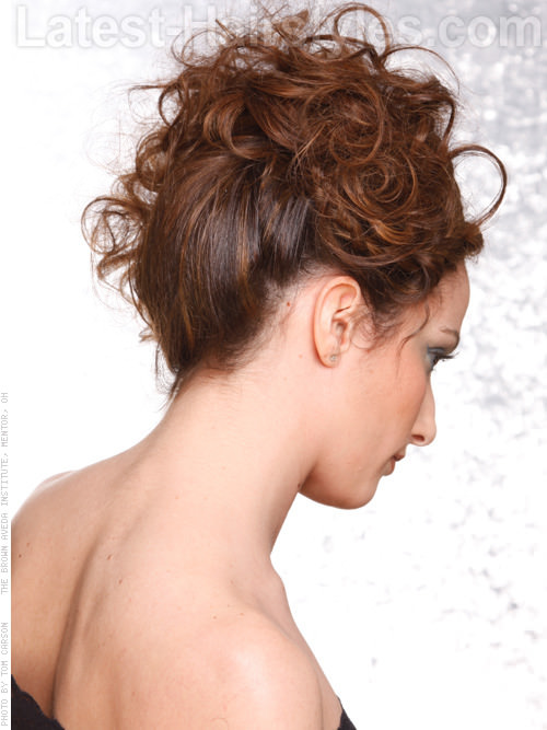 Tousled Topsider Loose Curly Look for Naturally Curly Hair Back View