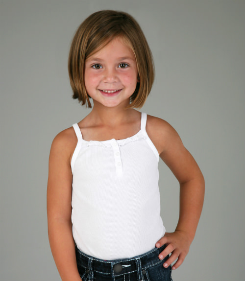 Chin-Length Bob Kids Hairstyle cropped