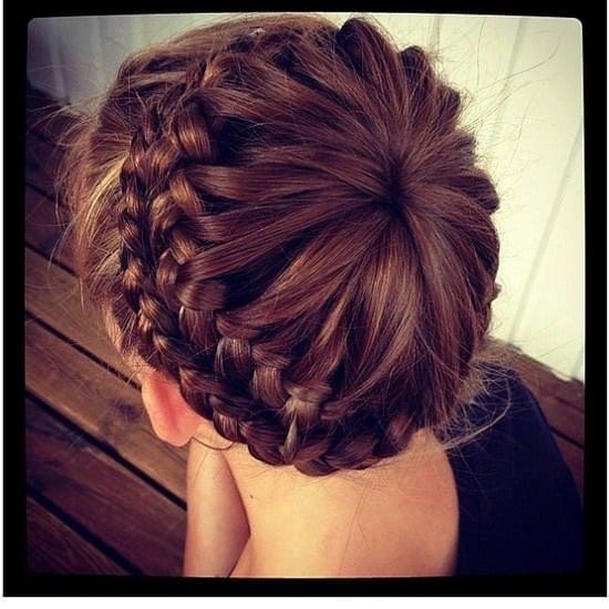 starburst crown hairstyle braid