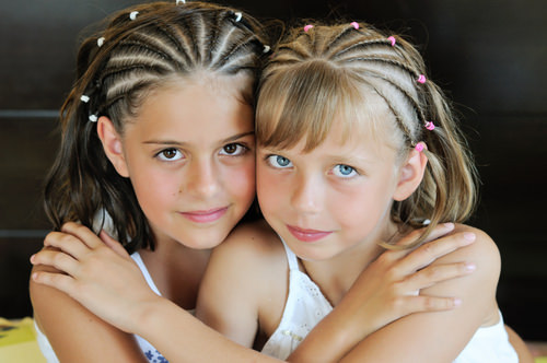 Kids Hairstyle with Micro Braids and Beads