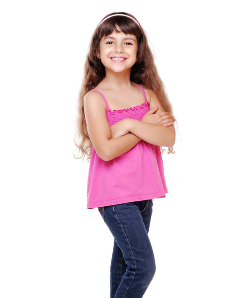 Long Kids Hairstyle with Bangs and Headband cropped