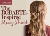 messy braid how to