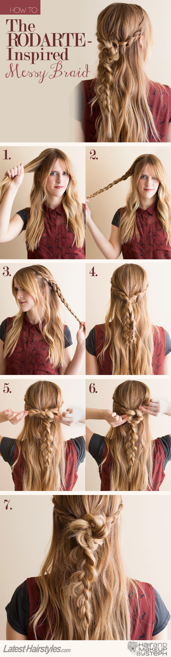 Latest Hair Do : Messy Braid How To: The Rodarte-Inspired Messy Braid