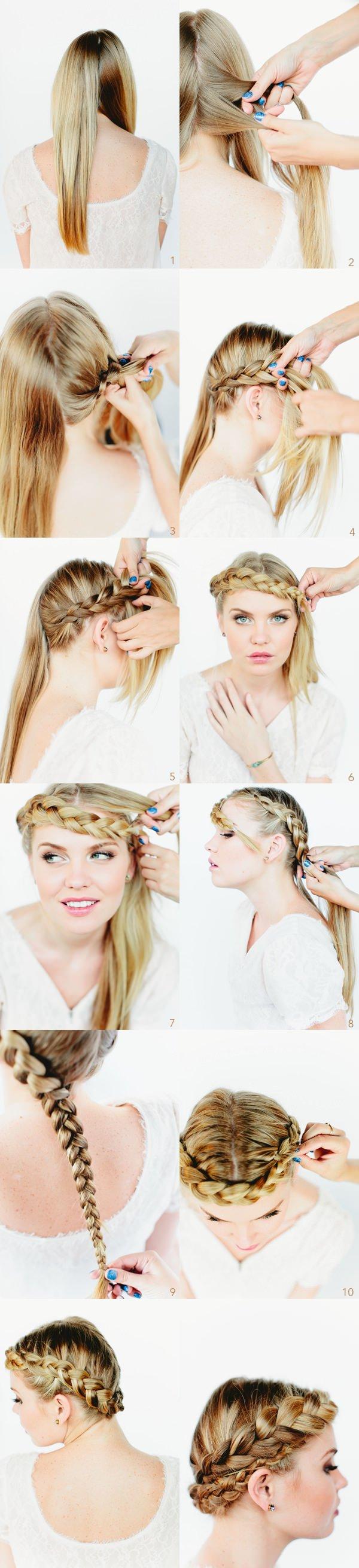 crown hairstyles braid tutorial