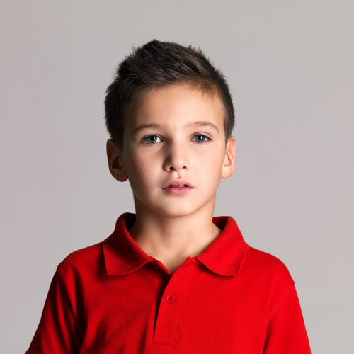 Short Kids Hairstyle with Close Cut Sides