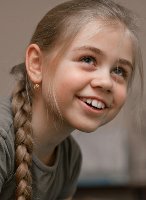 Single Braided Ponytail Kids Hairstyle cropped
