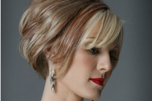 Soft Textured Bob with Side Fringe Side