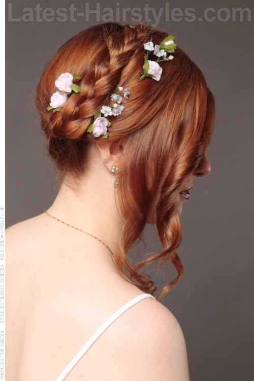 Bohemian Princess Pretty Updo Back View