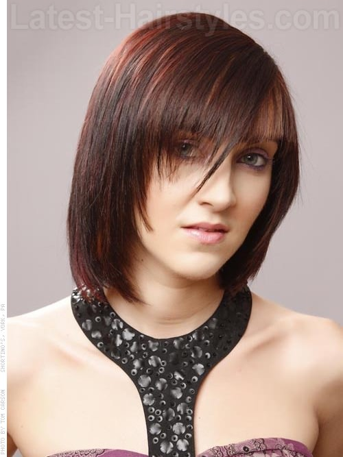 Crimson Crush Medium Shag with a Fringe