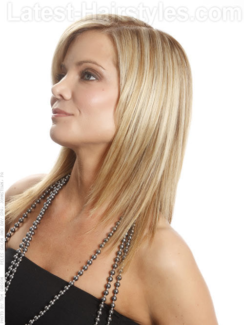 Deal Maker Glamorous Blonde Shag Hairstyle Side View