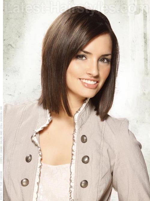 Hot Chocolate Straight Brunette Bob Hairstyle