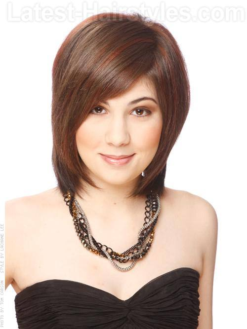 Medium Brunette Long Bob with Layers