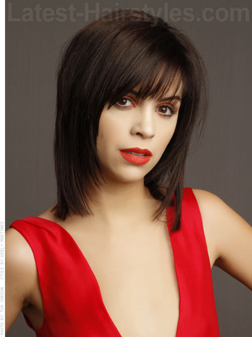 Rocker Chic Medium Shag Hairstyles