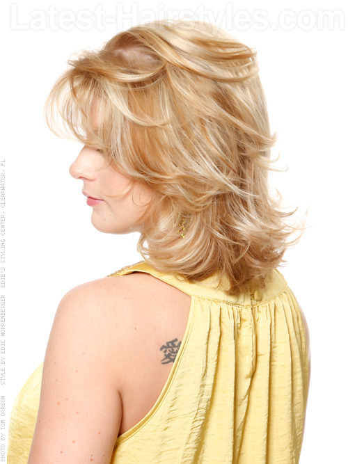 Summer Breeze Flippy Medium Shag with Highlights Side View