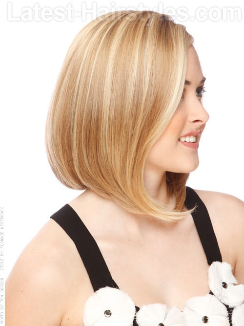 Sun Kissed Glow Highlighted Long Bob