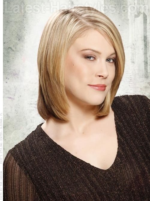 Triangular Long Layered Bob Hairstyles