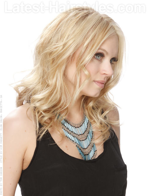 Zig and Zag Pretty Blonde Style with Center Part Side View