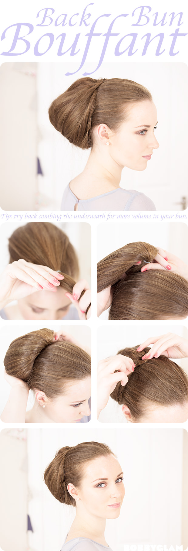 back bun bouffant tutorial