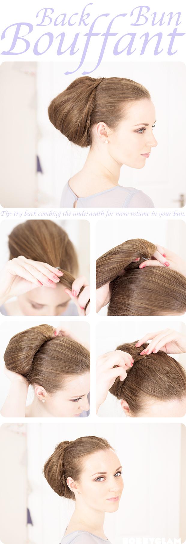 back bun bouffant tutorial