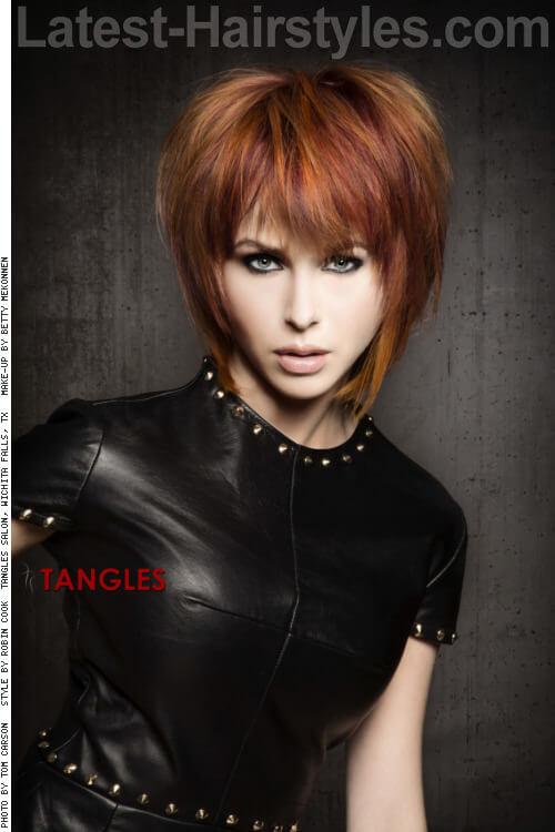 Medium Shag Hairstyle for Thick Hair