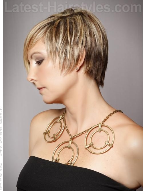 Adorable Asymmetrical Short Haircut Side View