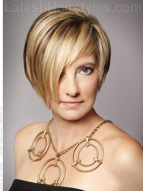 Adorable Asymmetrical Short Haircut