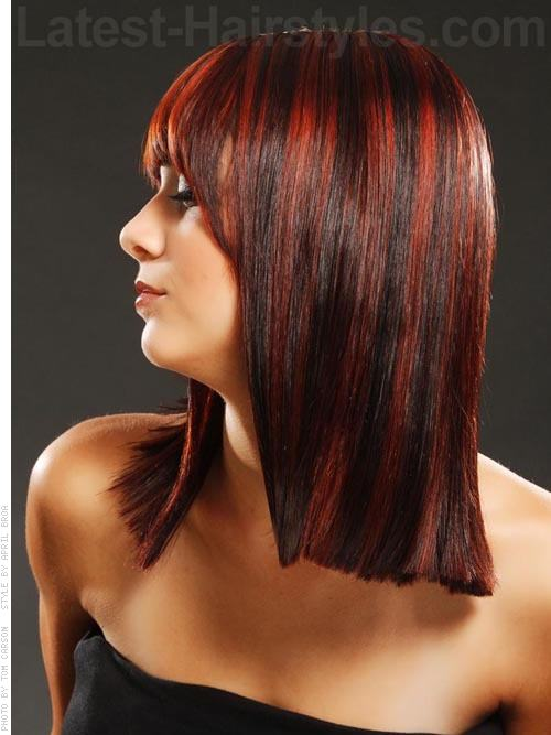 banged up angled bob hairstyle 2