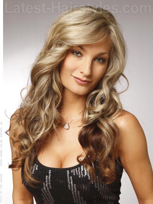 Blond Shell Wavy Long Styl