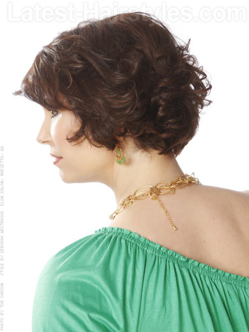 Bouncy Bob Naturally Curly Retro Look Side View