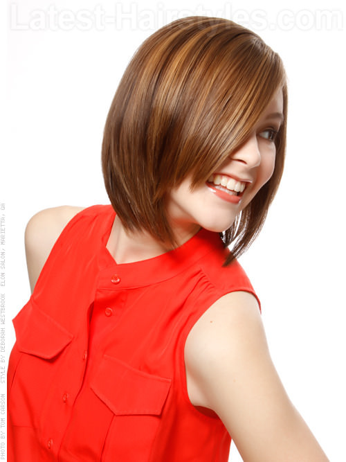 Easy Hair Highlighted Medium Haircut Bob