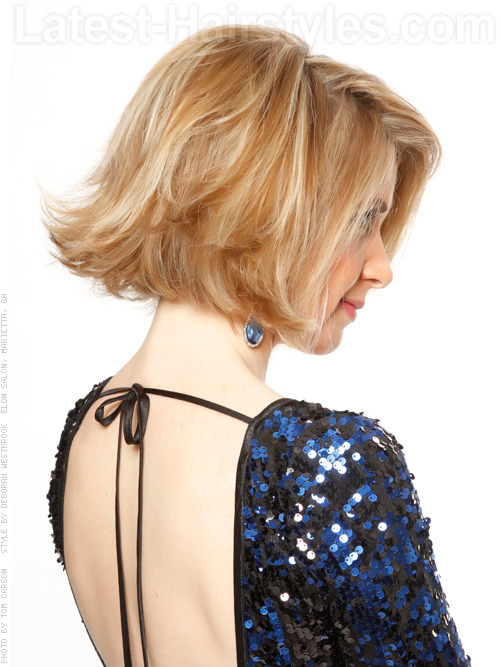 Flipped Out Bob Blonde Short Haircut with Volume