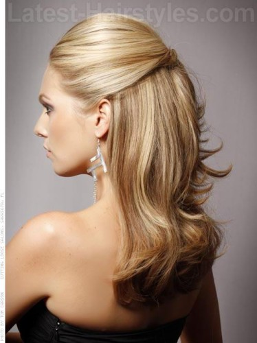 half up half down hairstyle idea