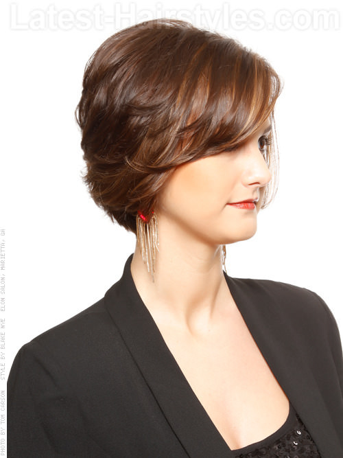 Layered Up Lass Cute Short Style Side View