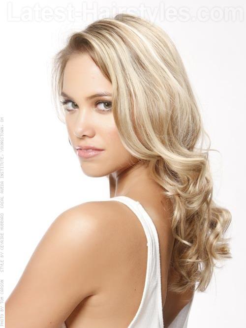 Model Call Long Blonde Wavy Haircut