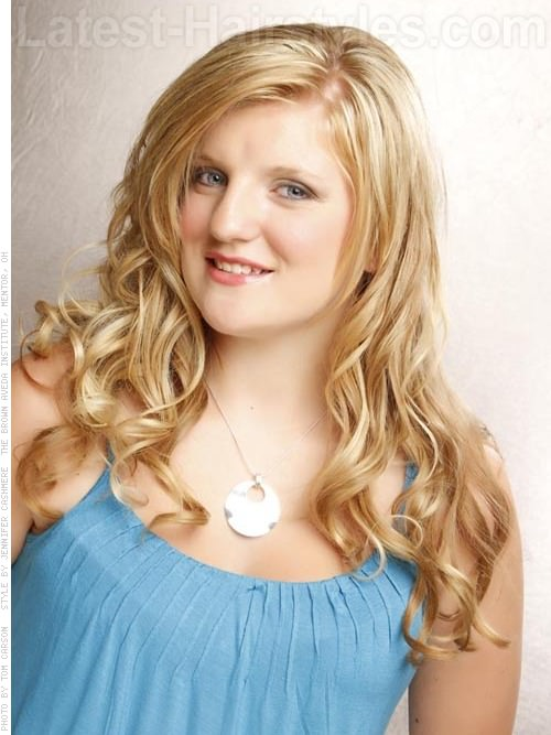 Prom Queen Long Blonde Haircut with Waves