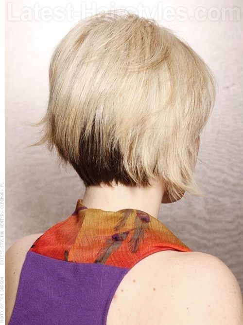 Stacked Bob Short Haircut Back View
